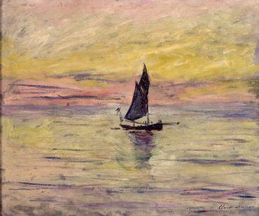 Claude Monet, Voilier effet du soir, 1885