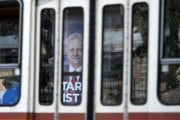 Budapest: affiche du maire sortant Istvan Tarlos