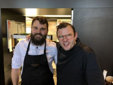 Jean-Philippe Watteyne et Olivier De Vriendt partagent leurs goûts des produits de terroir borain.