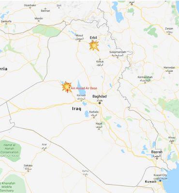 """""""Plus d'une douzaine de missiles"""" tirés par l'Iran contre des bases américaines en Irak"""