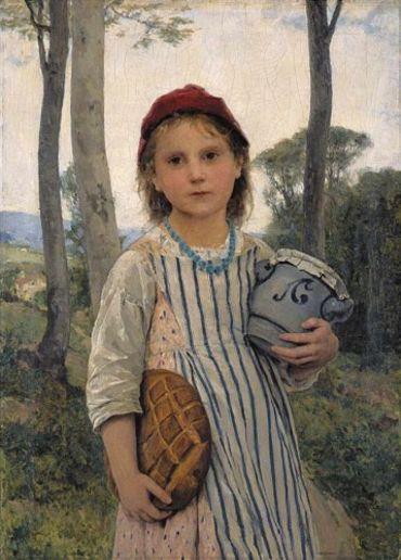 Le Petit Chaperon Rouge, Albert Anker, 1883