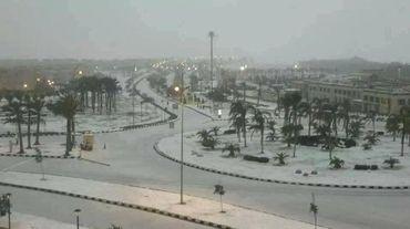 Il a neigé sur le Caire pour la première fois en 112 ans
