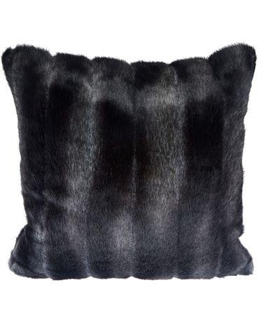 """Grey Pelted Faux Fur Cushion"" par Helen Moore"