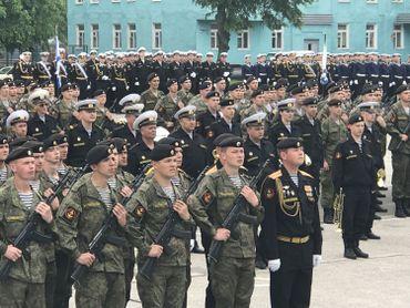 Parade militaire en l'honneur de la flotte de la Baltique- Baltiisk