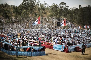 Le 31 juillet dernier à Gakenke, les supporters de Paul Kagame s'étaient déplacés en nombre afin de soutenir le président sortant.