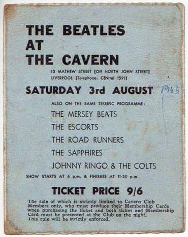 The Beatles au Cavern Club: 55 ans