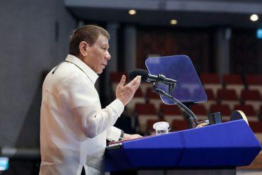 Le président philippin Rodrigo Duterte lors d'un congrès à Manille, le 27 juillet 2020