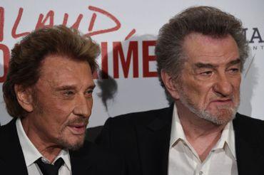 Johnny Hallyday et son vieux complice Eddy Mitchell