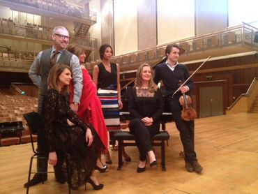 Gerald Watelet, Elodie de Sélys, Marie-Hélène Vanderborght, Tatiana Silva et Lorenzo Gatto