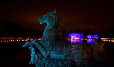 Le Château de Beloeil  somptueusement illuminé