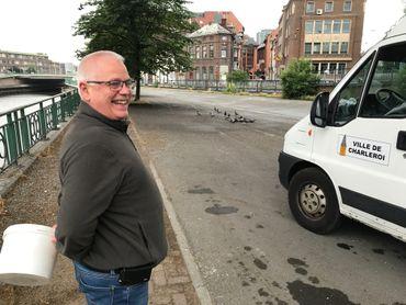 Alain Fromont chasse le pigeon à temps plein à Charleroi