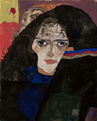 Egon Schiele - Mourning woman