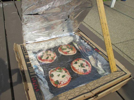 Une pizza au four... solaire!