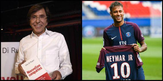 Elio di Rupo et le joueur de foot Neymar