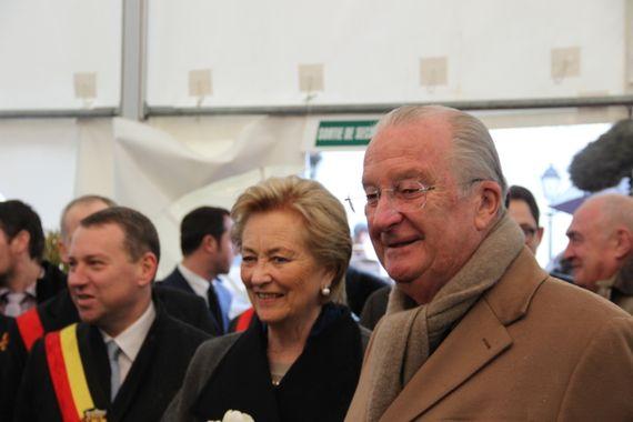Le roi et la reine en visite à l'école hôtelière de Namur