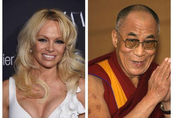 Pamela Anderson et le Dalaï-Lama
