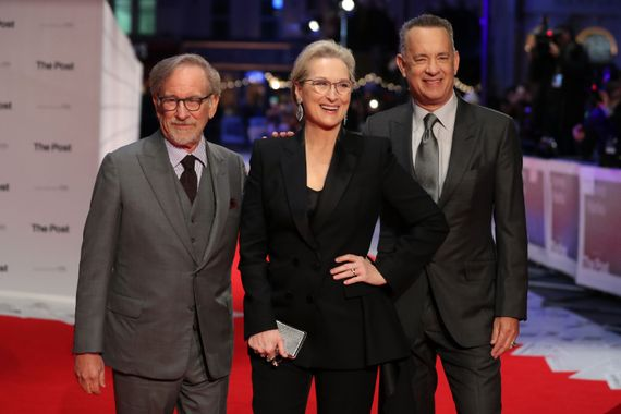"Steven Spielberg, Meryl Streep et Tom Hanks, le célèbre trio de ""The post"""
