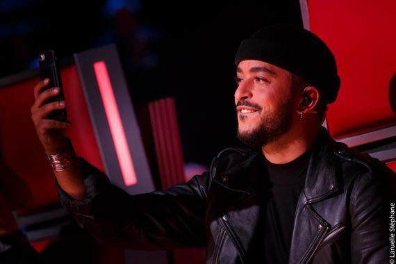 Slimane lors de la saison 7 de The Voice Belgique