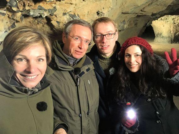 Le sous-sol regorge de galeries creusées dans la marne, véritable refuge pour une dizaine d'espèces de chauves-souris.