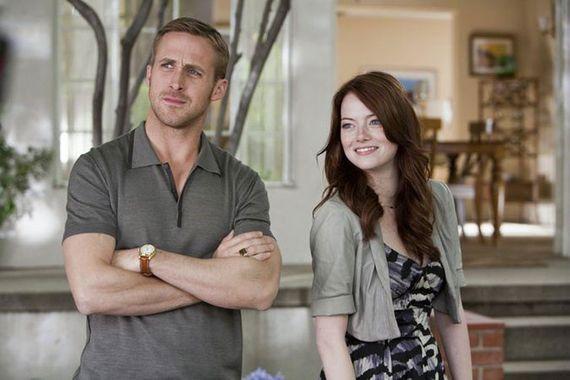 Ryan Gosling a moitié nu empêche Emma Stone de jouer