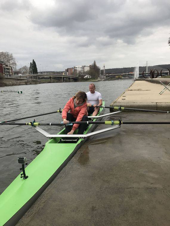 Armelle a testé l'aviron