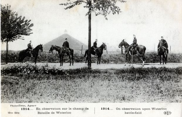 """1914… On observation on the Waterloo Battlefield"" 
