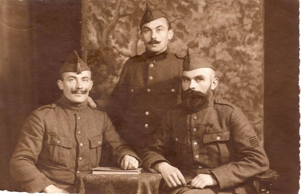 The three Fabry brothers   Louis is on the right  - Private collection, Fabry family ©