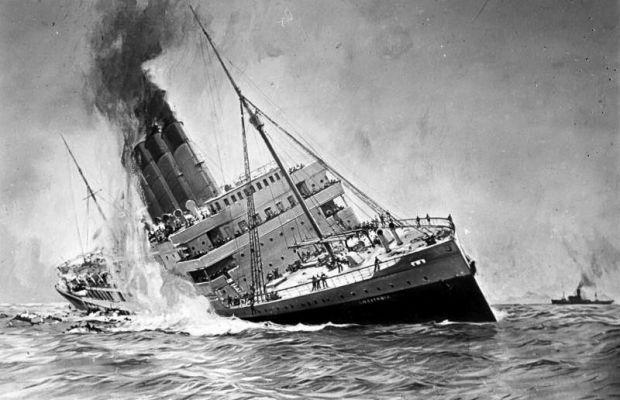 Le 7 mai 1915, le paquebot Lusitania est torpillé par les Allemands  - Tous droits réservés ©