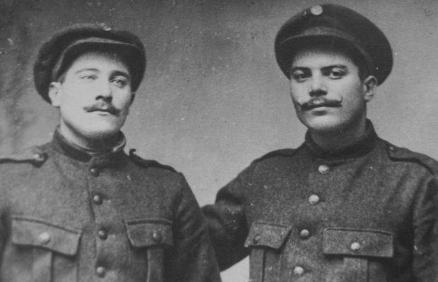 Fernand et Georges Mahieu au début de la guerre  - Collection privée, M. Marcel BEAUCARNE ©