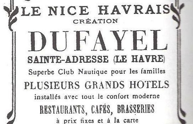 "Advertisement in the ""Nice-Havrais"" (Guide Joanne, 1913)  where, a few months later, the Belgian government would begin its exile…  - cfr. art. cit. by M.-R. Thielemans in the notes ©"