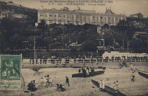 Carte postale, vue de la station balnéaire de Sainte-Adresse  - Collection privée, M. Freddy Billiet ©