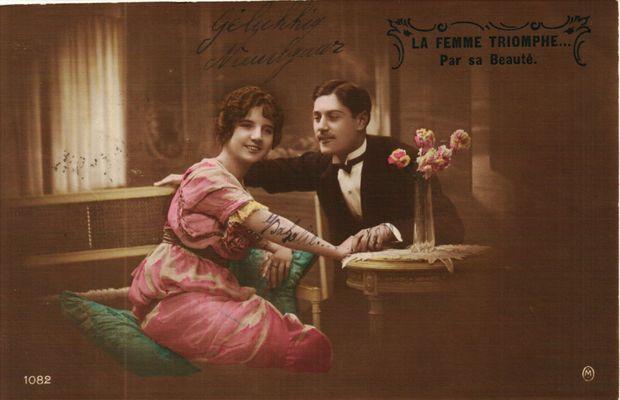 Des voeux d'amour que les hommes envoyaient malgré les difficultés de communication  - Collection Privée Boulanger (Collecte RTBF) ©