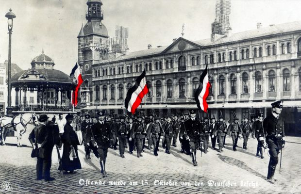 """Ostend occupied by the Germans on 15 October [1914]"" 