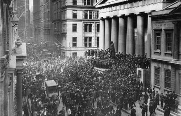 """Bankers' crisis"" of 1907, on Wall Street  - Author's private collection ©"