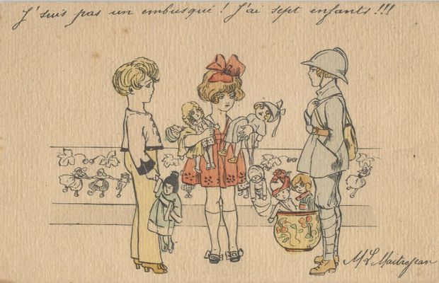 Poupées et petits soldats : les jouets s'en vont en guerre  - Collection privée M. Freddy Billiet ©