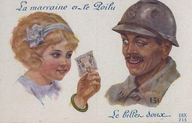 Carte postale humoristique  - Collection privée, M. Freddy Billiet ©