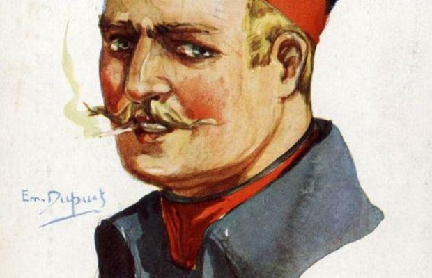 """""""Infanterie belge - Fort de Boncelles - Août 1914». Carte postale française. Illustration d'Emile Dupuis, de la série «Nos Alliés». Editeur Color (Paris).     - Collection privée, Nicolas Mignon. © ©"""