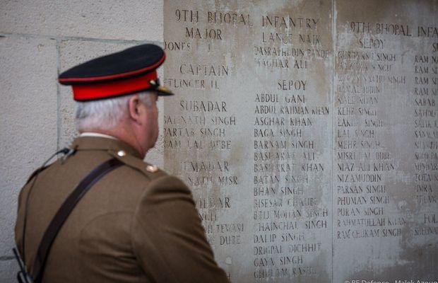 100 ans de la Bataille de Passendale: Une immense émotion à la Porte de Menin.  - Malex Azoug ©