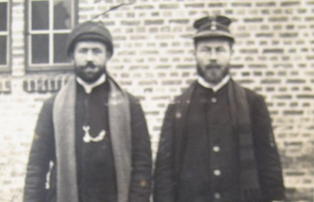 Robert Descamps, prisoner of war (on the left in the photo)  - Private collection, Danielle de Brabanter ©