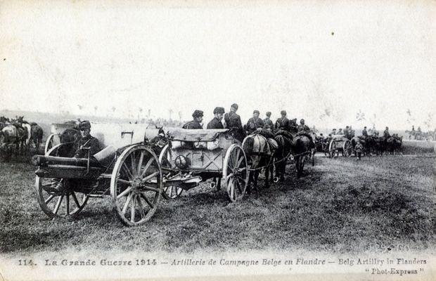 Les Belges se défendent en 1914 avec des armes… allemandes  - Collection privée, Nicolas Mignon ©