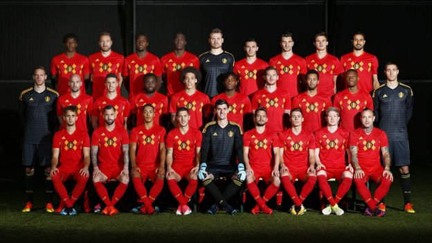 Official team picture of the Belgian Red Devils - 07112017