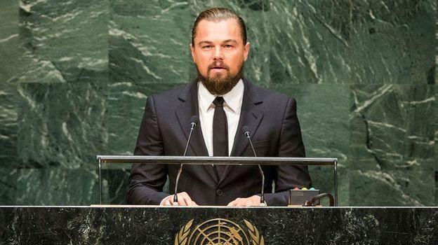 Leonardo DiCaprio s'exprime au sommet de l'ONU en 2014