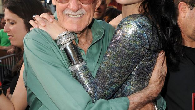 L'actrice et Stan Lee.