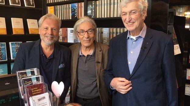 Thierry Bellefroid, Boualem Sansal et Père Luc