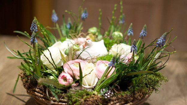 Atelier d'art floral à la roseraie à Tournai