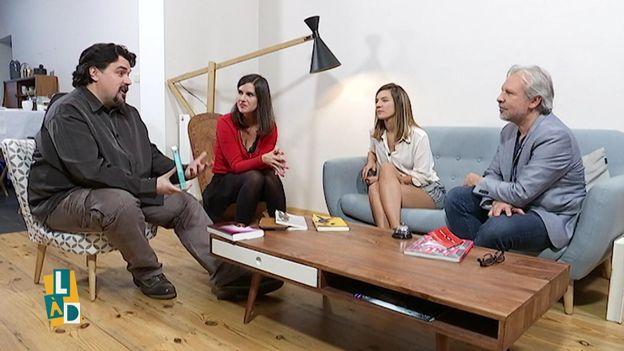 Michel Dufranne, Myriam Leroy, Elodie Deceuninck et Thierry Bellefroid