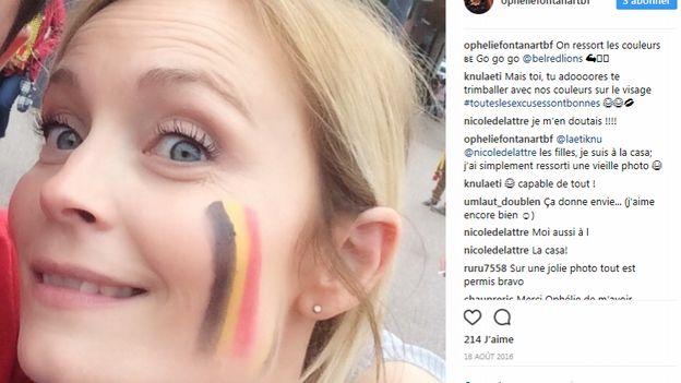 Ophélie, aussi fan des Red Lions, affiche son soutien sur Instagram