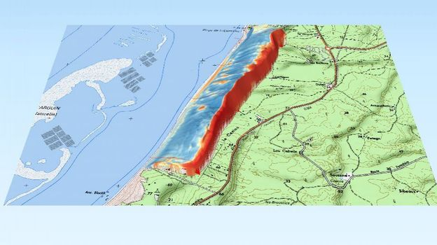 cartographie Dune du Pilat en 3D