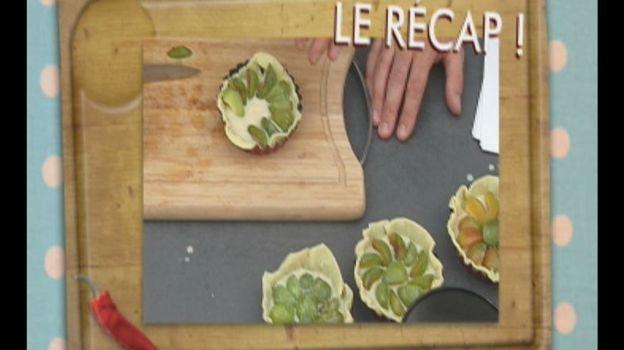 Tartelettes aux reines-claudes et raisins au Rivesaltes