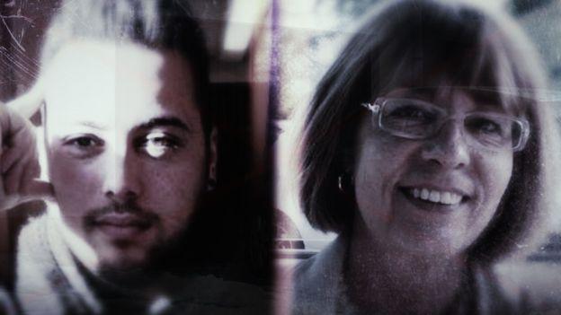 David Giner et Muriel Slachmuylders, la victime